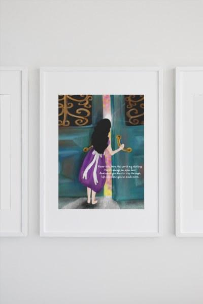 INSP004 Always An Open Door Framed print