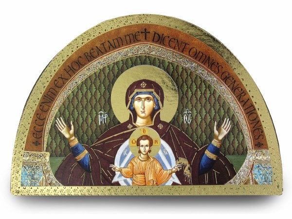 Madonna and Child Arch Plaque