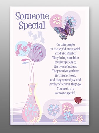 Someone Special Glass Plaque 18 x 13cm