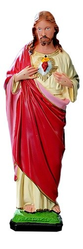 Statue of Sacred Heart suitable for churches, schools and sacred spaces (40cm)