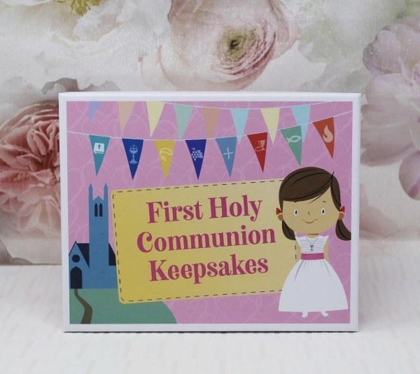 Girl First Holy Communion Keepsake Box