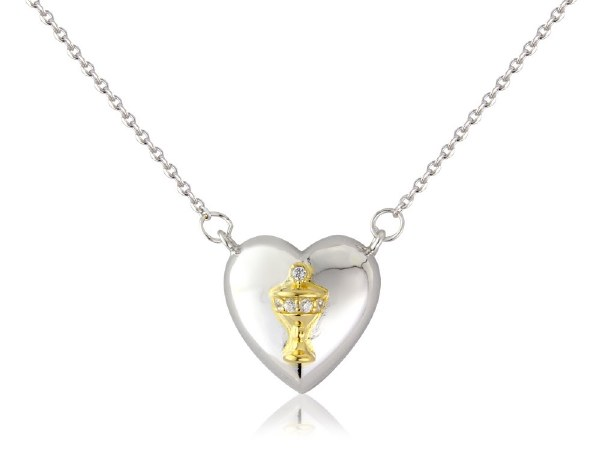 Beautiful  Silver Plated First Holy Communion jewellery with chalice motif