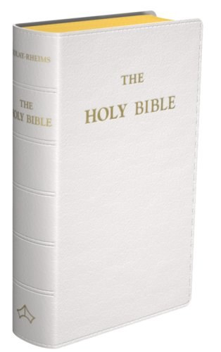 Douay Rheims Bible Pocket White Leather