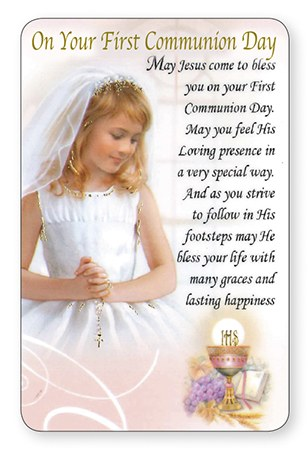 Girl First Communion Prayercard