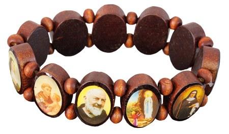 Wood Bracelet Elasticated
