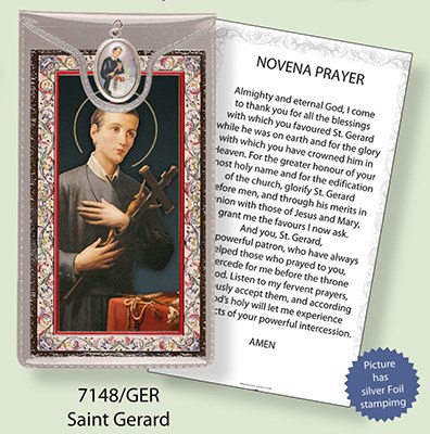 St Gerard Prayercard and Medal