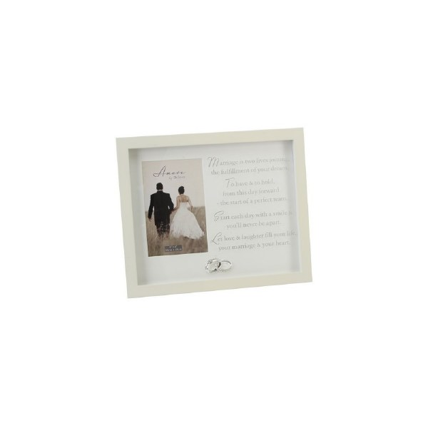 Amore Wedding Frame Verse And Crystal Rings