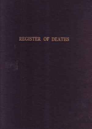 Death Register 100 Leaf