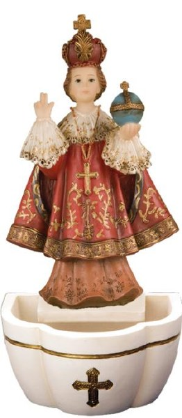 Child of Prague Holy Water Font