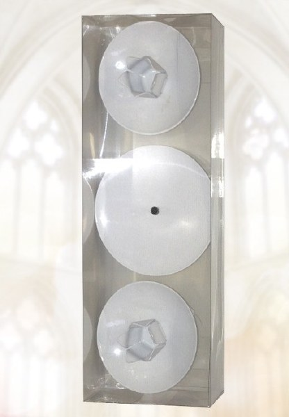 NLA   White Wedding Candle Holder Set Boxed