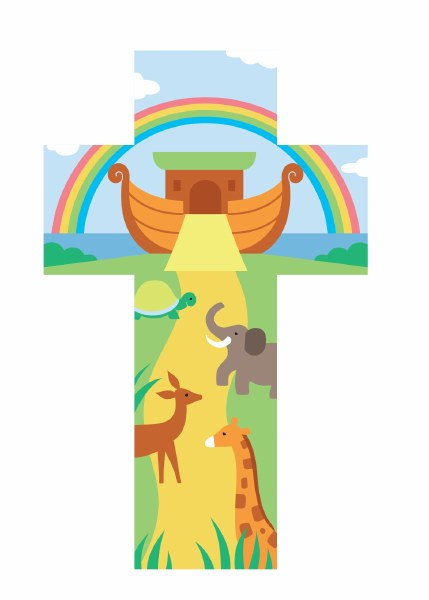 Noah's Ark Cross (20cm)