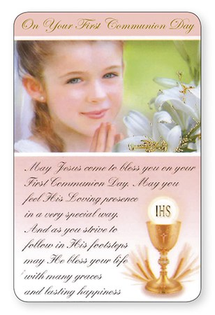 First Communion Prayer Card (Girl)