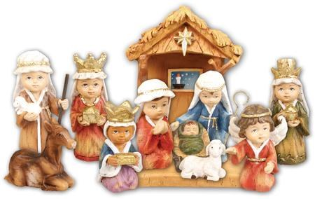 Children's Nativity with Shelter