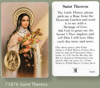 St Theresa Prayer Leaflet