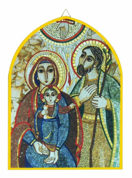 Holy family Mosaic Icon