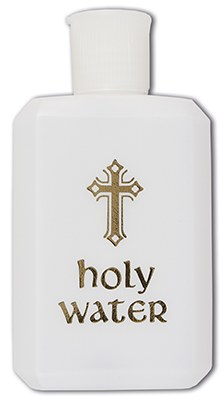 Our Lady of Lourdes Statue Holy Water Bottle