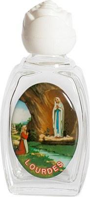 Lourdes Glass Holy Water Bottle