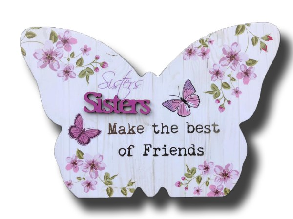 Sister Blooms Butterfly plaque