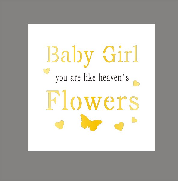 Baby Girl Light Up Your World Plaque