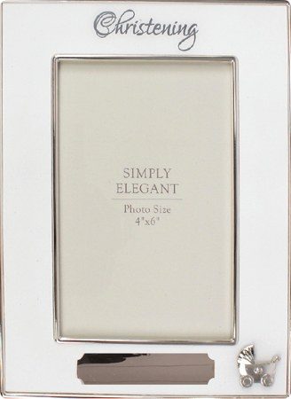 34916 Silver Plated Christening Photo Frame