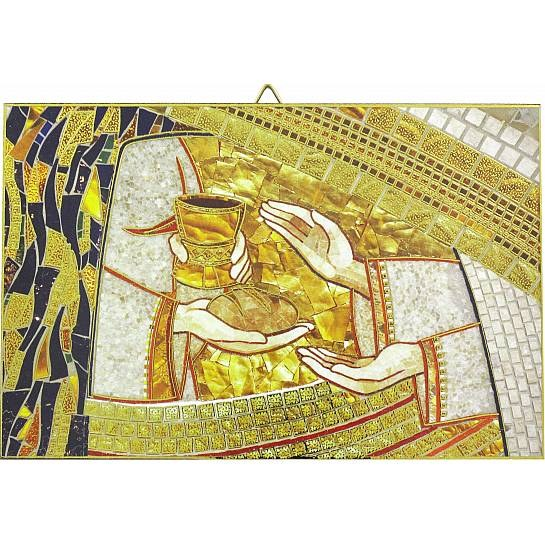 Bread and Wine Mosaic Icon