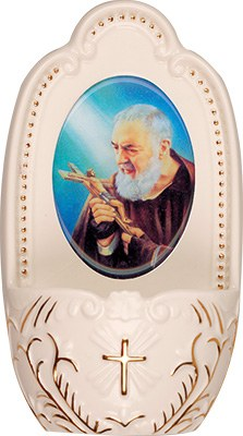 Padre Pio Holy Water Font