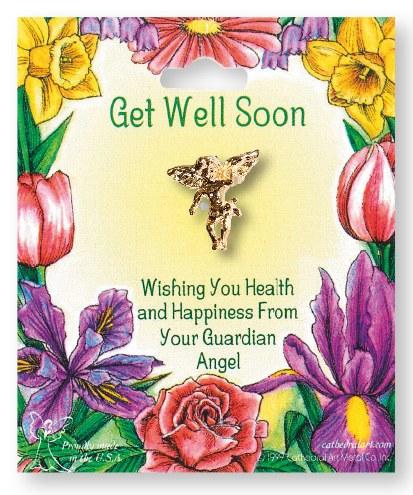 Get Well Soon Angel Brooch