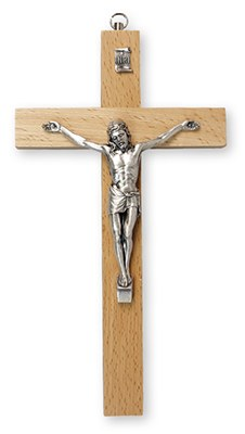 Pear Wood Crucifix (25cm)