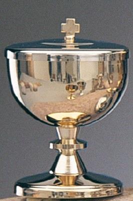 Ciborium Silver Finish (Holds approx 90 hosts)