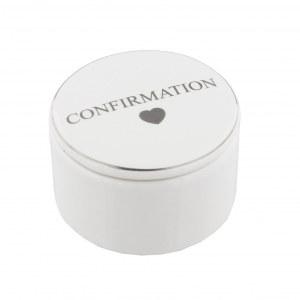 Confirmation Ceramic Trinket Box