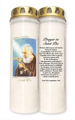 St Pio 7 Day Pillar Candle