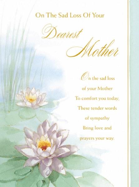 Sad Loss of Mother Card