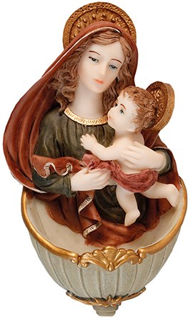 Madonna and Child Holy Water Font