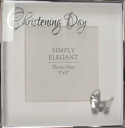 34915 Christening Photo Frame with Pram Icon