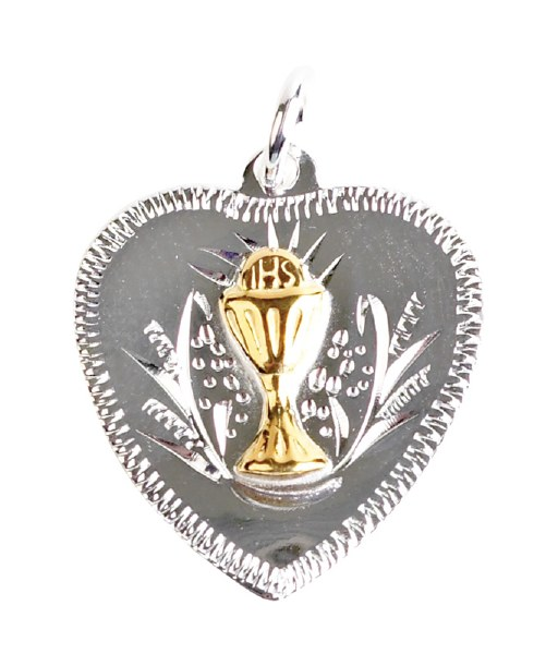 Heart Shaped First Holy Communion Medal