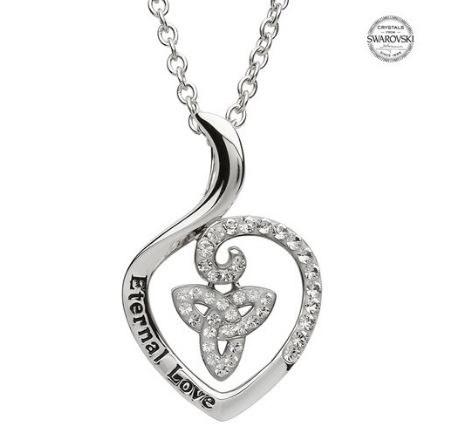 Sterling Silver Eternal Love Swarovski Trinity Pendant