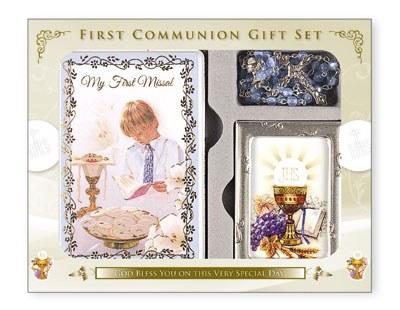 Communion Gift Set Boy with Photo Frame