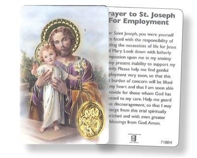 St Joseph Umemployment Prayercard