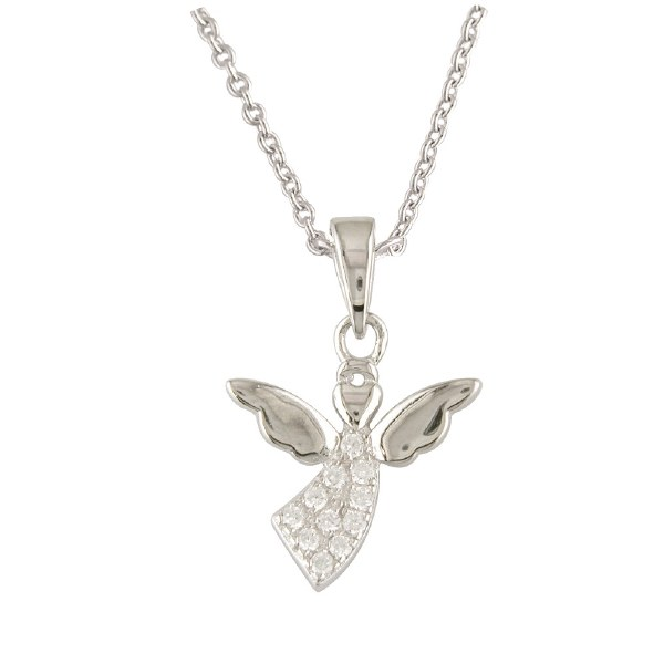 Sterling Silver Flying Angel Pendant