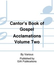 Cantor's Book of Gospel Acclamations