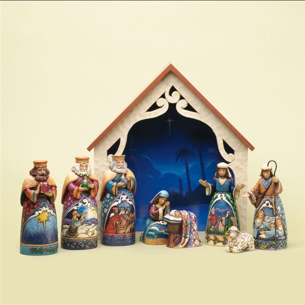 Away In A Manger Mini Nativity Jim Shore