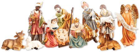 Peace On Earth Nativity Set (15cm)
