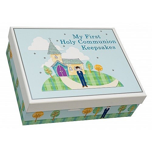 Blue First Holy Communion Keepsake Box