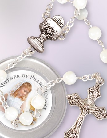 Mother of pearl First Holy Communion Rosary