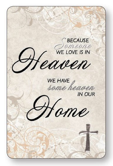 Heaven Home Laminated Prayer Leaflet