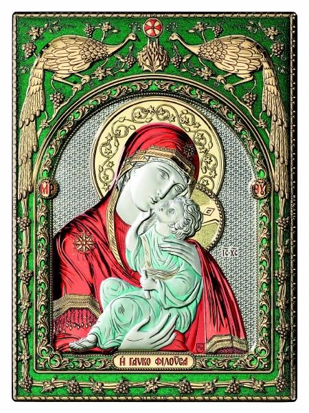 Madonna and Child Colour Icon (30 x 25 cm)