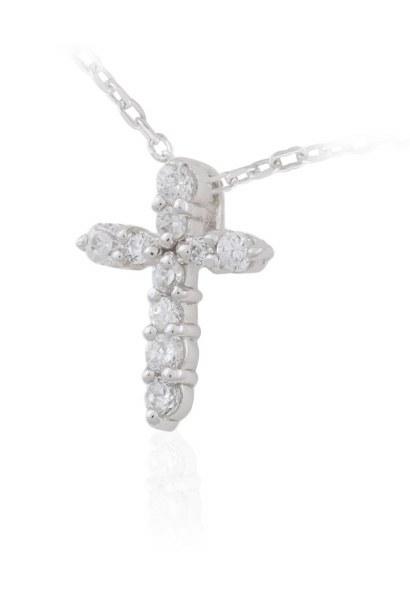 Crystal Cross Necklet