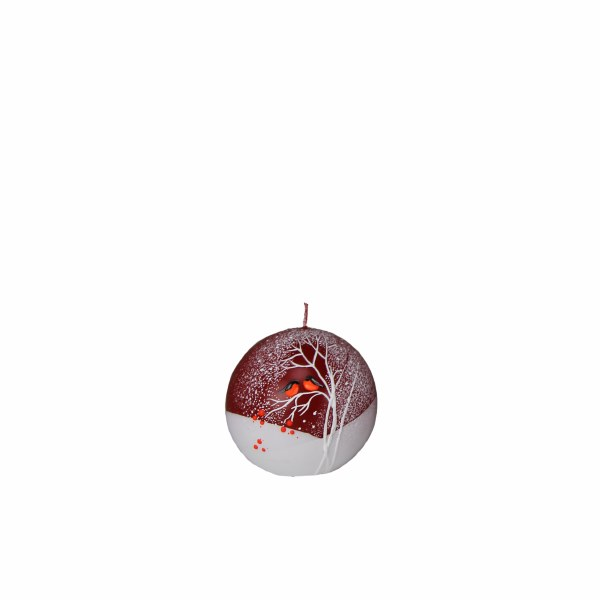 Christmas Robins Candle Ball (15cm)