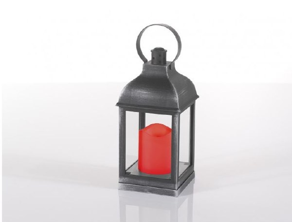 LED Outdoor Lantern with Candle