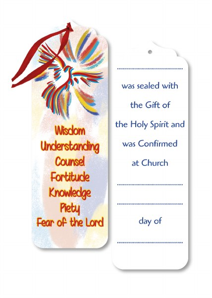 Confirmation Wooden Bookmark 15cm